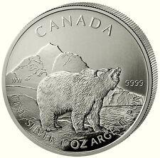 Canada 2011 GRIZZLY 5 dollari Canadian Wildlife Serie 2. EDIZIONE 1 oncia argento