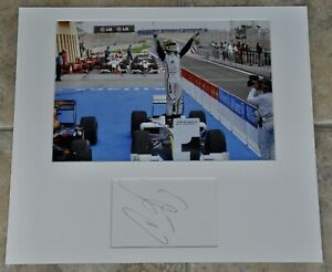 """Jenson Button Signed Card Mounted With 12"""" x 8"""" Colour Photo Brawn F1 W/ COA"""