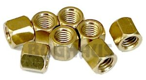 VW BEETLE BUG BUS GHIA THING 8MM W/ 11MM HEAD BRASS NUTS - 8 PCS - FREE SHIP!