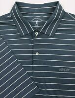 Valspar Fairway & Greene Men's XL Polo Performance Golf Shirt Steel Blue S/S