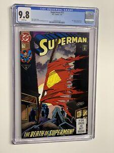 Superman 75 cgc 9.8 wp dc comics 1993 death of superman