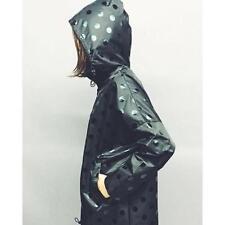 Ex Cond.! Cute GORMAN Black Polka dot raincoat coat jacket * size S/M