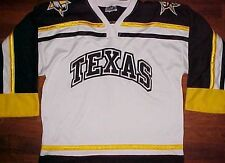 Ot Sports Nahl Junior A Texas Tornado Black White Yellow Sewn Hockey Jersey S