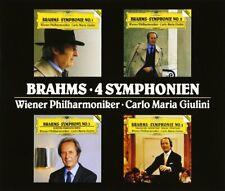 GIULINI, Vienna / Weiner PO: Complete 4 BRAHMS Symphonies, etc 4 Japanese DG CDs