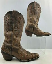 Ladies Ariat Brown Leather Pointed Toe Cowgirl Boots Size : 6.5B