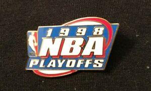 1998 NBA Playoffs Pin Chicago Bulls Jordan 6th Championship NBA Logo