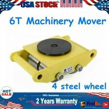 6T Machinery 4 Rollers Mover Industrial dolly skate roller Cast steel 13200 lbs