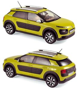 1/18 Norev Citroen C4 Cactus 2014 Yellow Black Airbump Neuf Livraison Domicile