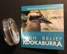 Australia Kookaburra High Relief Proof Silver 1 Toz 2014 with Box & Certificate