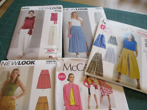 MEW LOOK/McCALLS  SEPERATES SEWING PATTERNS, NEW  + FACTORY FOLDED, 4 STYLES
