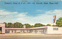 C19/ Ritzville Washington WA Postcard 1956 Womack's Motel Roadside Linen