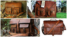 Men's Genuine Leather Messenger briefcase combo pack four bags