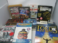 Lot of Big Box PC Games Strategy RPG Space Fantasy History