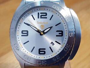 Mens Steel Bracelet Timberland 5117301 Abington Silver Analog Luxury Sport Watch