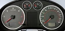 Lockwood Audi A3 Diesel 260KMH w/Distance Icon BLACK Dial Conversion Kit C429B