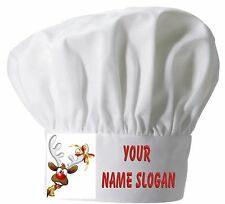 PRINTED CHEFS HAT PERSONALISED FREE CHRISTMAS ( DESIGN 3 )