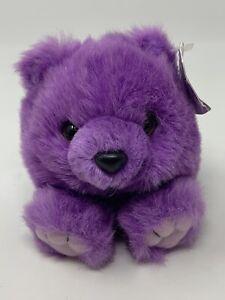 "Puffkins Violet Purple Teddy Bear Bean Bag Plush Stuffed Animal Toy 4"" Swibco"