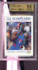 1992 Impel Olympicards #87 Michael Johnson ROOKIE Olympics Graded Card BGS 9.5