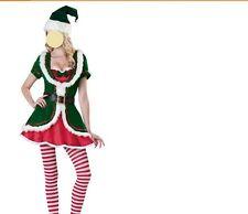 Sexy ladies Christmas Costume Elf Women Fancy Dress Ladies Costume 8-10