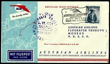 Austria, First Fly Cover, Wien - Moskau, Year 1959, Austrian Airlines