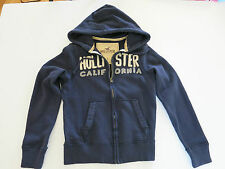 HOLLISTER MENS NAVY FULL ZIPPED HOODIE NEW WITHOUT TAG SIZE SMALL