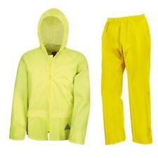 Waterproof Suit Jacket & Trousers Mens Womens Rainproof Packaway Rain Set S-2XL