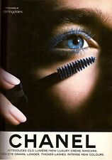 1987 Chanel Cosmetics Mascara Makeup Magazine Print Advertisement Ad Vintage 80s