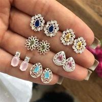 6 paires/Set strass cristal Drop bijoux oreille Stud boucles d'oreilles Boh WW