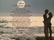 Anniversary Gift For Girlfriend Romantic Love Poem I Will Always Love You Fiance