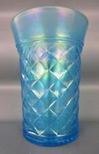 Northwood Carnival Glass -  CONCAVE DIAMONDS Celeste Blue Tumbler 3277 - 87