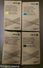 4 Genuine XEROX DocuColor 7002 8002 Digital Press Developer 005R00738 005R00737
