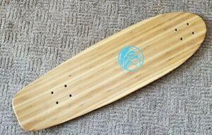 """White Wave Rocket longboard skateboard deck 31"""" long 9"""" wide bamboo maple"""