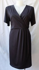 BIB Plus Size M 22-24 Dress Black Stretch Corporate Work Occasion Evening Travel
