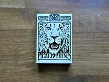 David Blaine - Black Lions, Playing Cards (SEALED, NEW)
