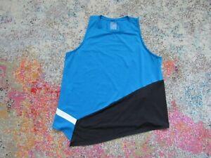 LUCKY IN LOVE Women's BLUE/BLACK/WHITE Tennis Top - Size XL (16)