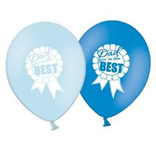 """Fathers Day - Dad You are the Best - 12"""" Latex Blue Assorted Balloons Pack of 5"""