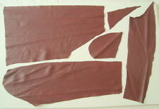 BURGUNDY NAPPA LEATHER REMNANTS  -- #3117
