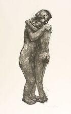 Hans Theo giudici-madre e figlia in abbraccio-LITOGRAFICO 1958