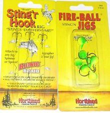 Northland Tackle 1/4 Fire-Ball Jigs & Braid Singers w/clips (Parakeet-6 pk)