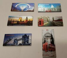 6 Pcs London England Souvenirs Fridge 3d Magnet Set UK Stock Fast Ship