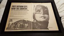 Batman Adam West Rare 1968 20th Century Fox Syndication Promo Poster Ad Framed!
