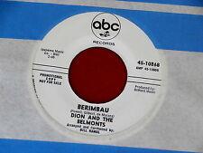 DION AND THE BELMONTS~BERIMBAU~NEAR MINT~PROMO~ABC 10868~RARE ~ DOO WOP 45