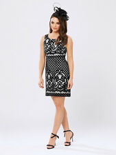 REVIEW Baroque Black Lace Dress - size 8 - RRP $289 - New with tags - FREE POST