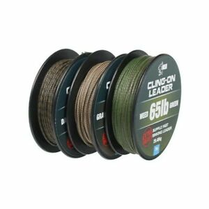 Nash Cling-On Leader 7m 65lb *All Colours* Extra Heavy Unleaded