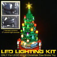 LED Light Lighting Kit ONLY For LEGO 40338 Christmas Tree Lighting Blocks  q
