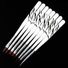 8pcs Acrylic Brush UV Gel Nail Art Brush Dotting Tool Pen Set Hot