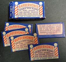 Vintage USA Razor Blades BARBERHONED Pack of 5 Seldom Offered