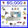 150,000 Embroidery designs collection PES format on USB compatible with brother