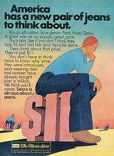 1976 Sears Roebuck America Has A New Pair of Jeans To Think About Print Ad.