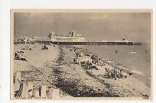 Southsea West Beach & Pier Vintage Postcard  215a